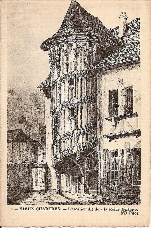 Chartres maison des vieux consuls escalier reine berthe for Maison de l emploi chartres