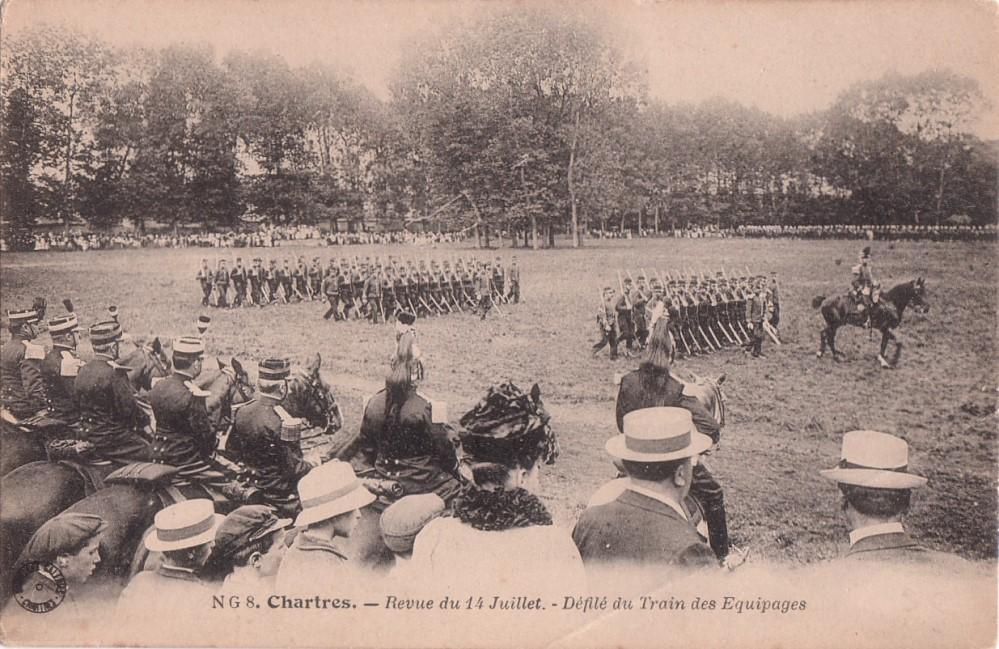 Photo d'un défilé du 14 juillet 6973